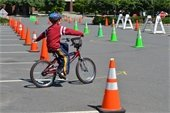 Bike Rodeo rider learns bike safety